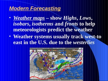 "Earth/Space Lesson III PowerPoint ""Weather Forecasts"""