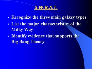 """Earth/Space Lesson IV PowerPoint """"Galaxies and the Big Bang"""""""