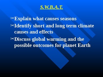 """Earth/Space Lesson III PowerPoint """"Climatic Changes"""""""