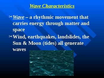 """Earth/Space Lesson III PowerPoint """"Waves and Tides"""""""