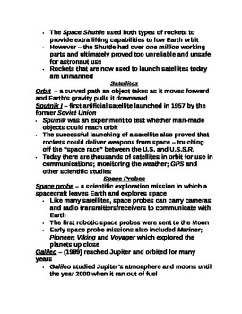 """Earth/Space Student PPT Note Guide Lesson I """"Radiation From Space"""""""