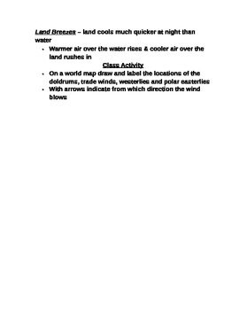 """Earth/Space Student PPT Note Guide Lesson III """"Air Movement"""""""