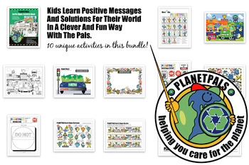 Earthday Earth Friendly Signs Crafts BOOK Activity Learning Lessons w Planetpals
