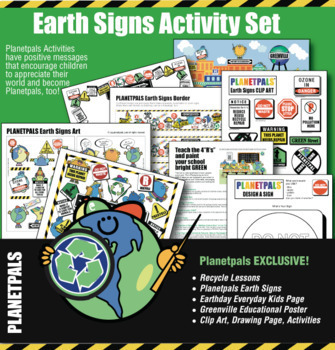 Earth Day GREENVILLE Ecology Friendly Crafts Activities Fun Fact Lessons Bundle