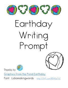 Earthday Writing Prompt