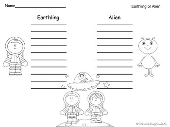 Earthling or Alien Real and Nonsense Word Short Vowel Centers