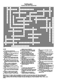 Earthquake - A Testing Vocabulary Crossword (UK Spelling)