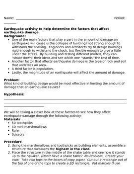 Earthquake Activity and Essay