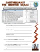 Earthquake Assignments (webquest, Richter Scale, vocabulary)