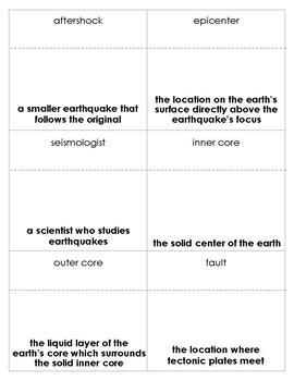 Earthquake Bingo