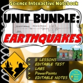 Earthquakes Unit Bundle (5 Lessons, Projects, Assessments, and Presentations)