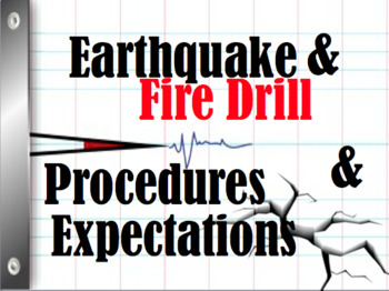 Earthquake Drill and Fire Drill Expectations Powerpoint