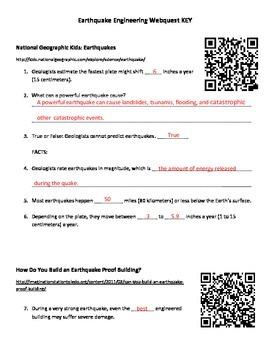 Earthquake Engineering IPAD Webquest