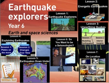 Earthquake Explorers: Year 6 (Primary Connections Science unit) WHOLE TERM DONE!
