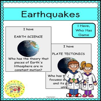 Earthquake I Have, Who Has Game
