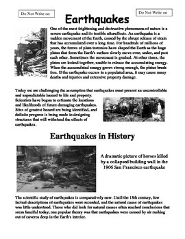 Earthquake Information Packet