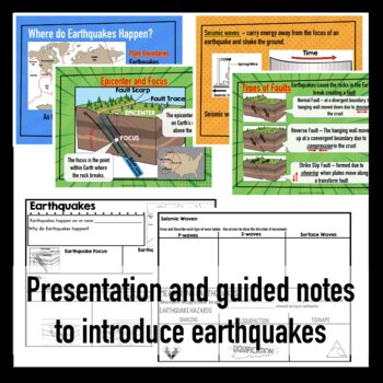 Earthquake Interactive Notebook and Brochure Project