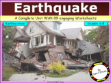 Earthquake - Its causes, impacts & effects (with engaging worksheets)