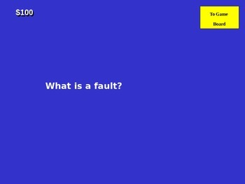 Earthquake Jeopardy Review