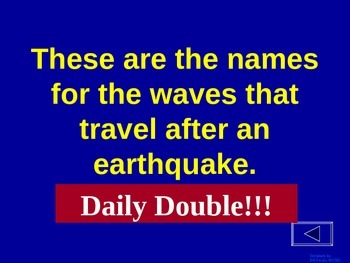 Earthquake - Jeopardy Review Game
