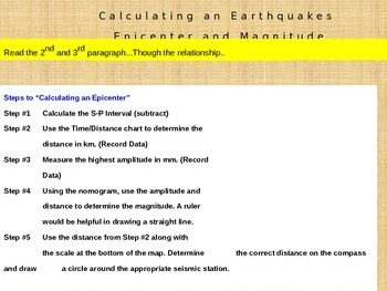 Earthquake Magnitude and Epicenter Bundle Part 4 and 5 Powerpoints