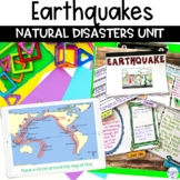 Earthquake Natural Disaster Unit with Nonfiction Article Flipbook and Project