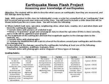 Earthquake Newsflash Project