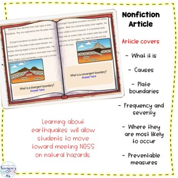 Earthquake Nonfiction Digital Google Classroom Activity