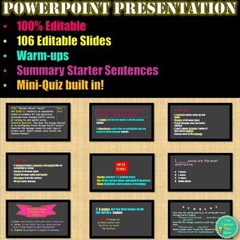 Earthquake Notes and PowerPoint