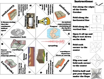 Continental Drift/ Plate Tectonics Activity: Earthquakes, Faults, Hot Spots, etc