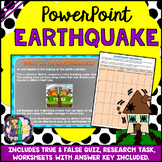 Earthquake PowerPoint Natural Disaster (Worksheets and Research Task Included)