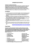 Earthquake Project and Rubric