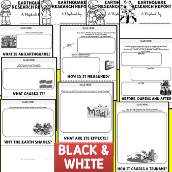Earthquake Research Flipbook (Earth Science, Geography, Report Flip book)