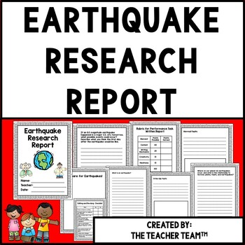Earthquake Research Report