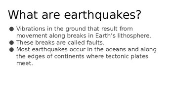 Earthquake Resources