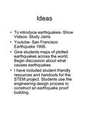 Earthquake STEM lab