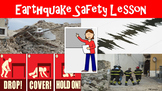 Earthquake Safety No Prep Lesson with Power Point, Worksheet, and Design A Plan