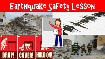 Earthquake Safety No Prep Lesson with Power Point, Workshe