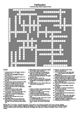 Earthquake Study (U.S. Spelling) - A Testing Vocabulary Crossword