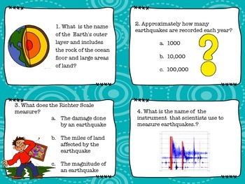 Shake, Rattle and Roll: Earthquake Task Cards