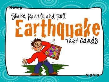 Earthquake Task Cards: Shake, Rattle and Roll