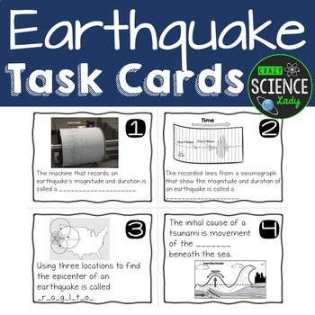 Earthquake Task Cards