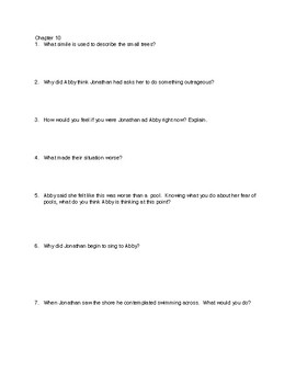 Earthquake Terror Comprehension Questions Chapters 10-16