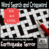 Earthquake Terror Crossword Puzzle, Word Search, Answer Ke