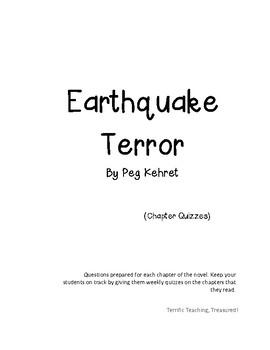 Earthquake Terror Novel Questions