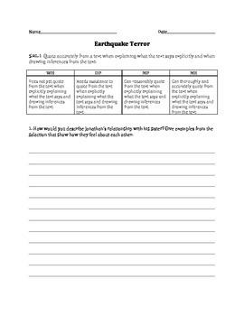 Earthquake Terror Quiz