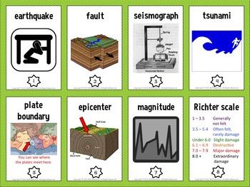 Earthquake Vocabulary Trading Cards