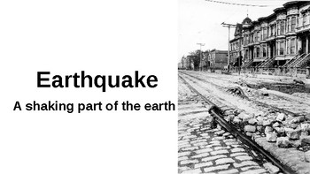 Earthquake Vocabulary Powerpoint