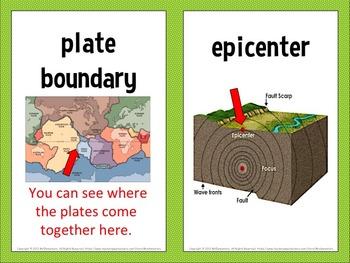 Earthquake Vocabulary