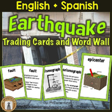 Earthquake Vocabulary Trading Cards, Word Wall, Games, Cen